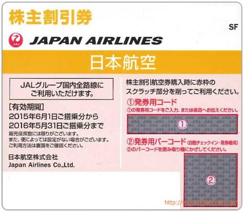 日本航空の株主優待